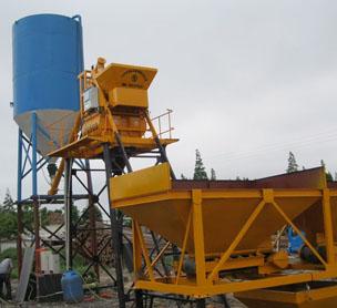 河南郑州搅拌站生产厂家宏海乡村小型25方混凝土搅拌站设备的照片