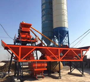 河南宏海机械HZS35混凝土搅拌站的设备照片