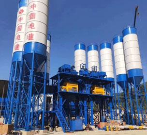 河南宏海机械HZS90混凝土搅拌站的设备照片